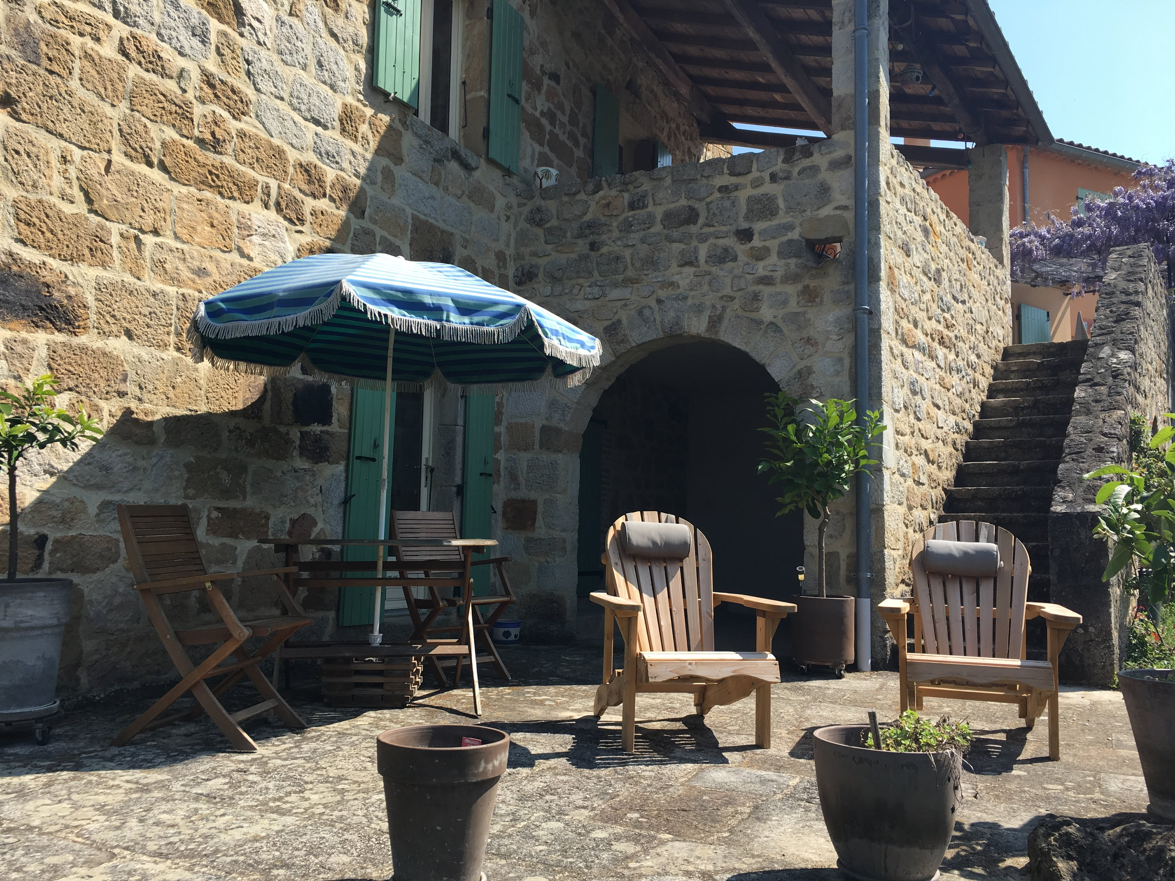 Terrasse privative chambre voutée
